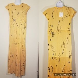 NWT Zara | Yellow Sheer Maxi Dress